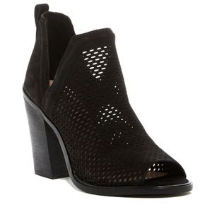Vince Camuto Kensa Perforated Peep Toe Booties